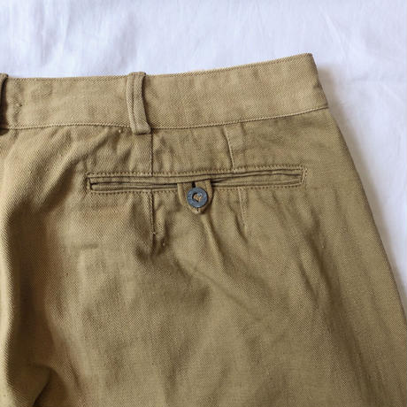 Early 40's French Military Chino Trousers With