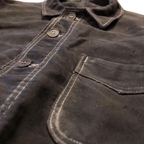 40's Patched Repaired Moleskin  Hobo Jacket