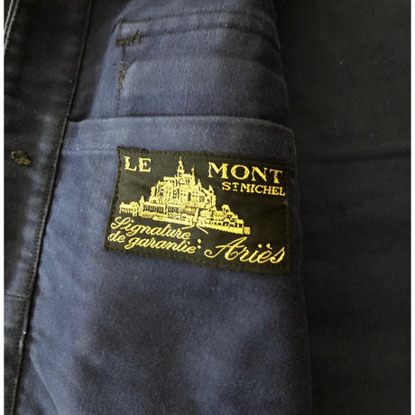 "30's〜40's Moleskin ""Cyclist Jacket"" Made From Le Mont St  Michel"