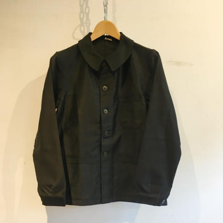 50's  Black Moleskin Coverall Jacket