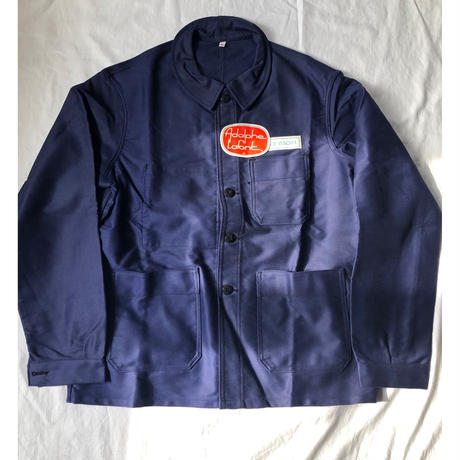 """50's """"Adolphe Lafont"""" Ink Blue Moleskin Coverall Dead Stock"""