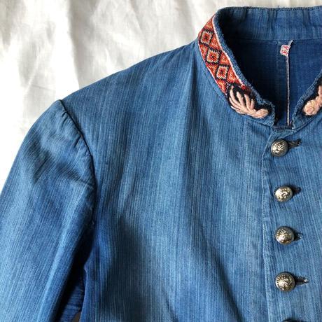 1910's Indigo Cotton/Linen HBT Fireman Jacket