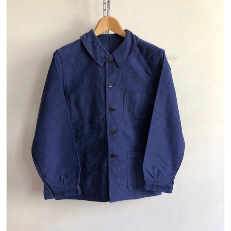 50's Ink Blue Moleskin Coverall Good Condition