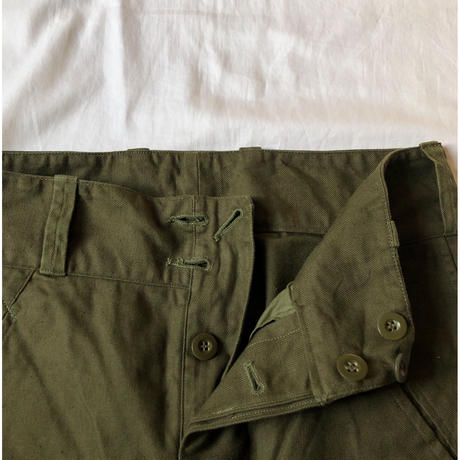 "50's French Army M47 Fielld Trousers Two Front Buttons ""Mint Condition"""