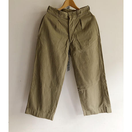 "50's French Army Chino Trousers ""31"""