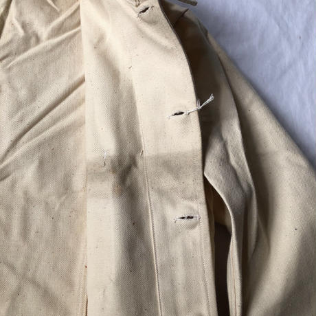 """30's〜Early40's Natural Cotton Work Jacket Dead Stock Made by """"Au Molinel"""""""