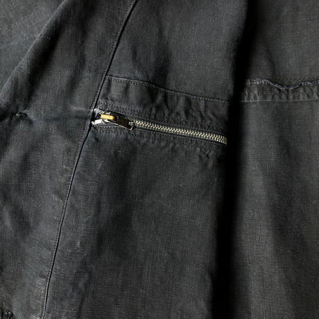 1950's Black Linen Work Coat