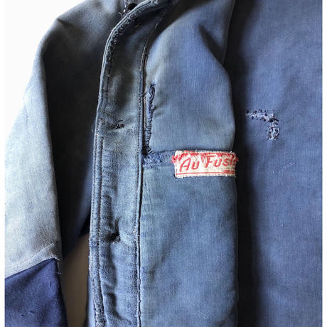 "40's Ink Blue Moleskin Boro Coverall Made From ""Au Fusil"""
