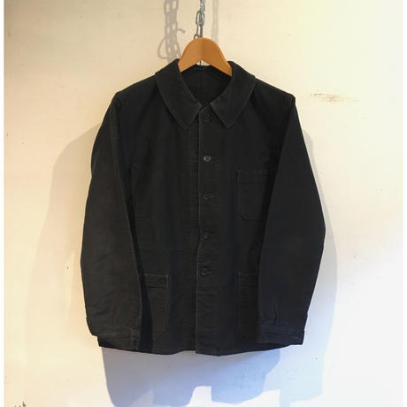 40's〜50's Black Moleskin Coverall Jacket