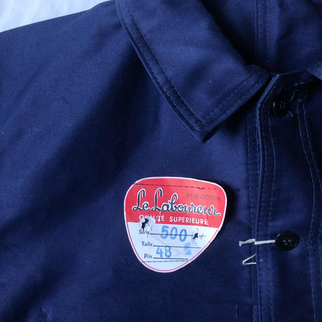 """60's Ink Blue Moleskin  Coverall Dead Stock Made by """"Le Laborer""""/1"""