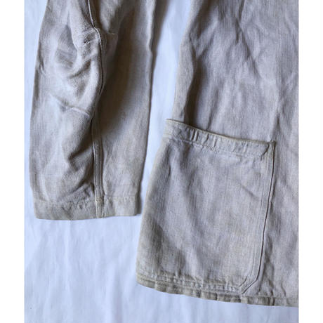 Later30's〜End of WW2 German Military Drillich Jacket HBT Linen