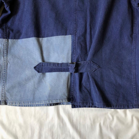 Later30's〜40's French Cotton Repaierd Jacket With Back Cinch