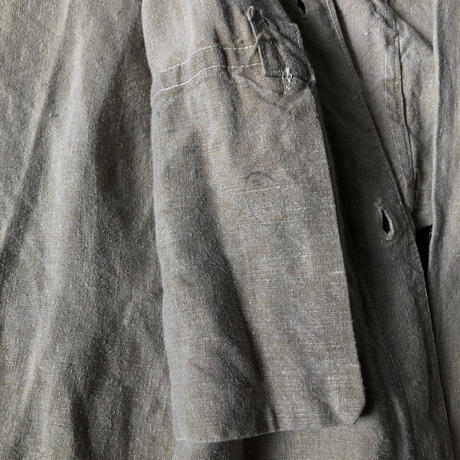 〜1930's French Military Metis Canvas Bourgeron Jacket.