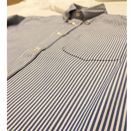 TRIPL STITCHED Classic Button Down Navy Candy Stripe