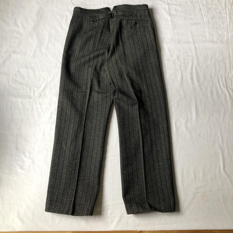 Later30's/40's Striped Wool  Trousers Dead Stock
