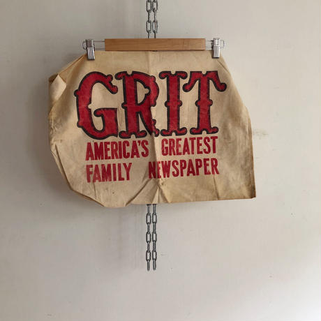 "50's〜60's GRIT Newspaper company, Newspaper Bag ""GRIT"""