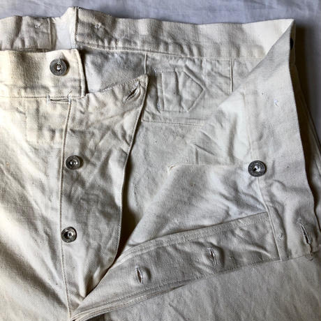 40's/50's French Military Hospital Trousers Dead Stock (One Washed)