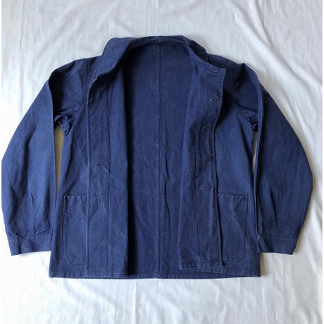 "30's〜40's  French Military ""Indigo Cotton/Linen"" Choer Jacket"