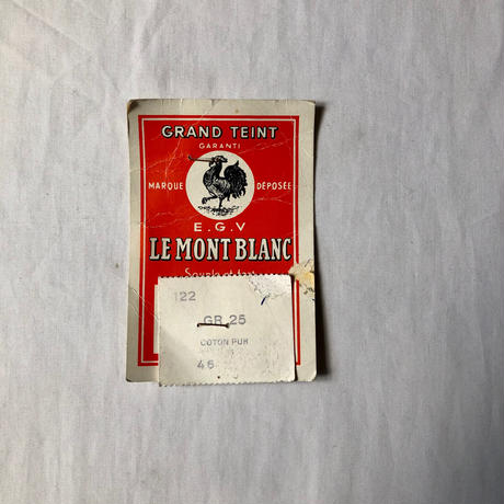 Early50's Black Moleskin Coverall Dead Stock Made by Le Mont Blanc