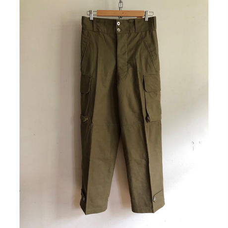 "Later 40's〜 Early 50's French Army M47 Field Trousers ""Metal Button"" Dead Stock ""31"""