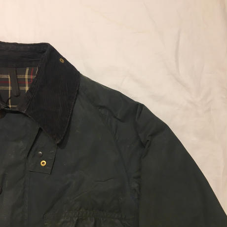 "80's Barbour 2 Creat Old ""BEDALE"" Navy 38"