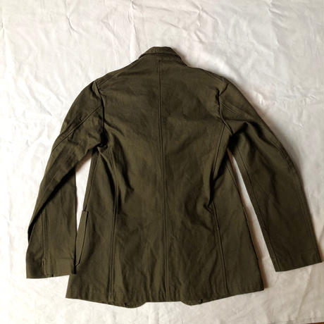 1940's French Military Demob Jacket Cotton Fabric  Dead Stock (Small Size)