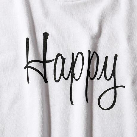 HAPPY T-SHIRT/WHITE GDT-009