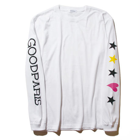 STAR&HEART LONG SLEEVE T-SHIRT / WHITE GDL-002
