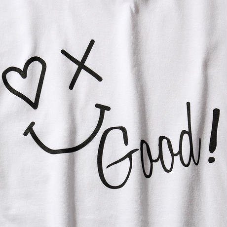 SMILE GOOD T-SHIRT/WHITE GDT-010