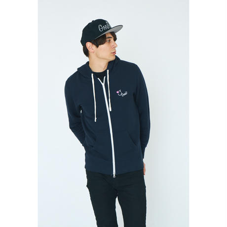 SMILE GOOD ZIP UP PARKA / NAVY GDP-003