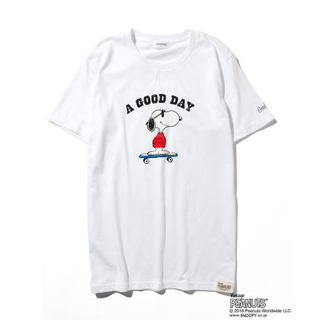 GP×SNOOPY SKATE T / WHITE GST-002