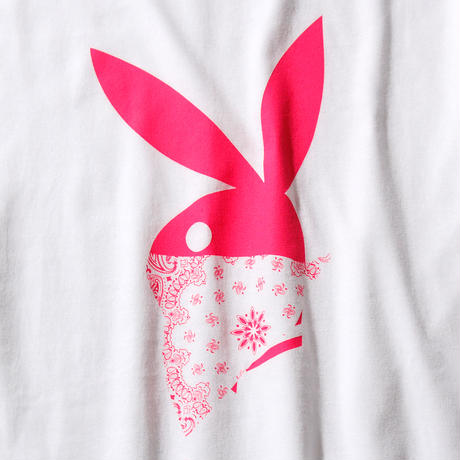 BANDANA RABBIT T-SHIRT/WHITE GDT-003