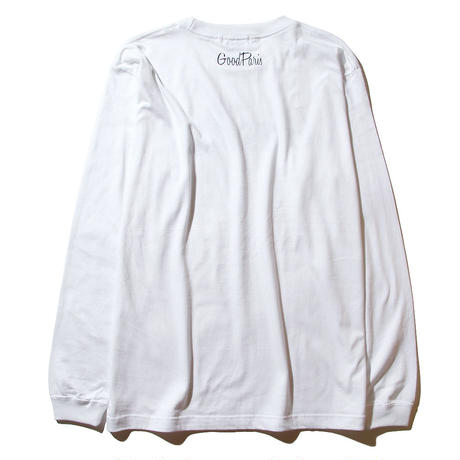 GOOD PARIS LONG SLEEVE T-SHIRT / WHITE GDL-001