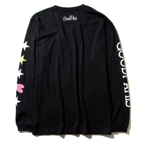 STAR&HEART LONG SLEEVE T-SHIRT / BLACK GDL-002