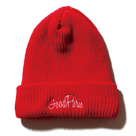 GOOD PARIS KNIT CAP / RED GDG-004