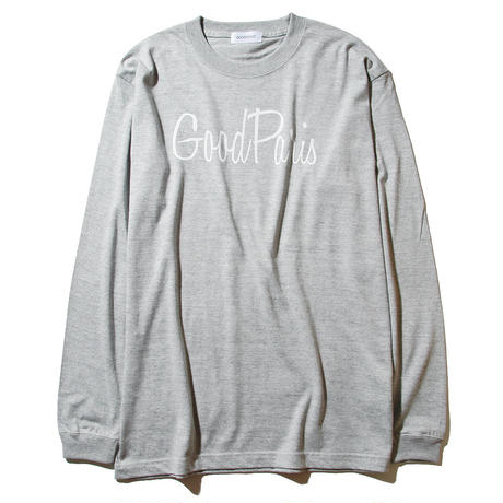 GOOD PARIS LONG SLEEVE T-SHIRT / GREY GDL-001