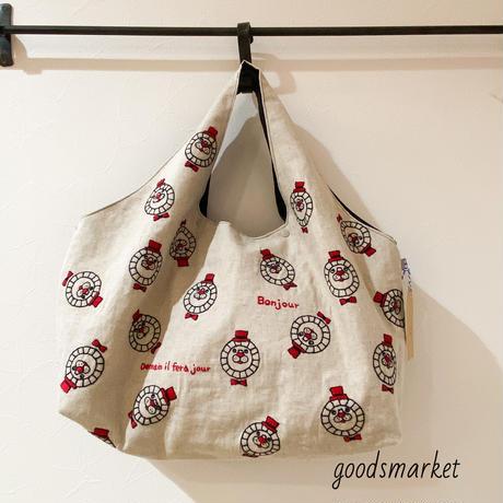 エコバッグな刺繍トート ライオッサンズ GOROHON(ゴロホン)