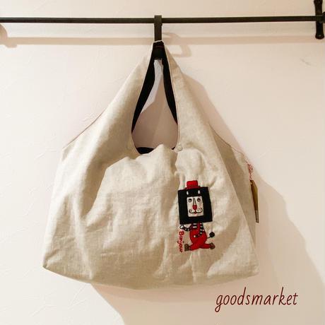 エコバッグな刺繍トート 四角ライオッサン GOROHON(ゴロホン)