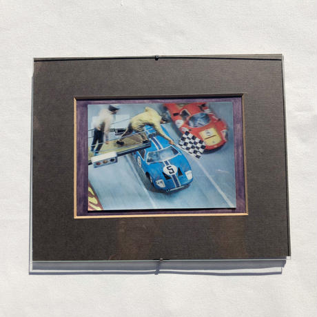 "Wall hanging  Lenticular Print ""Racing flagger"""