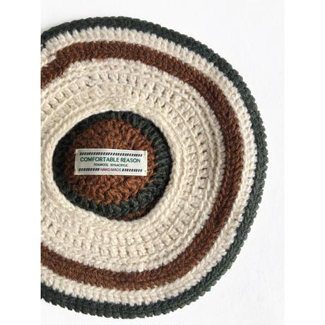 Stripe Tam O'Shanter Hat
