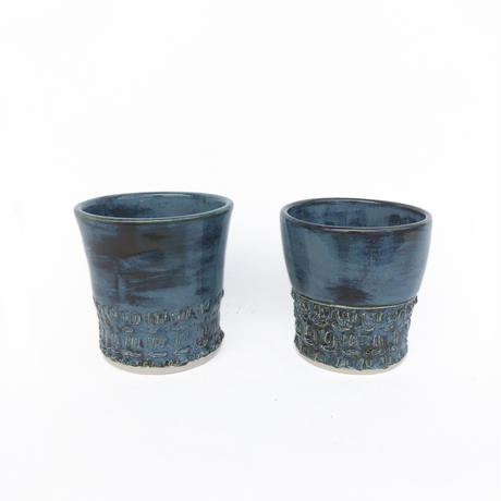 Hand Made Blue Glazed Cup