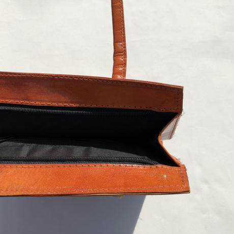 Egypt embossed leather bag