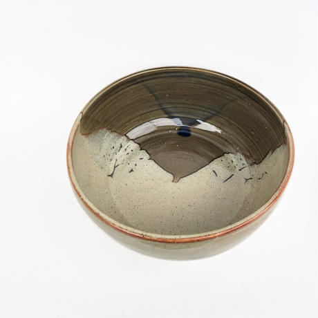 Taupe & Brown Drip Glazed Bowl