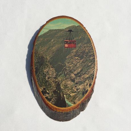 "Wooden wall hanging photo ""gondola"""