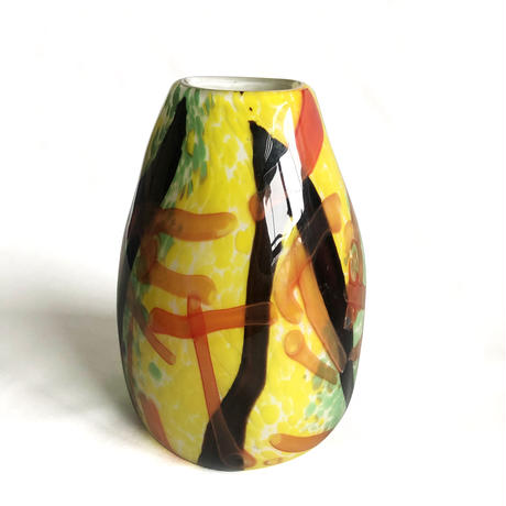 Abstract Paint Glass Vase