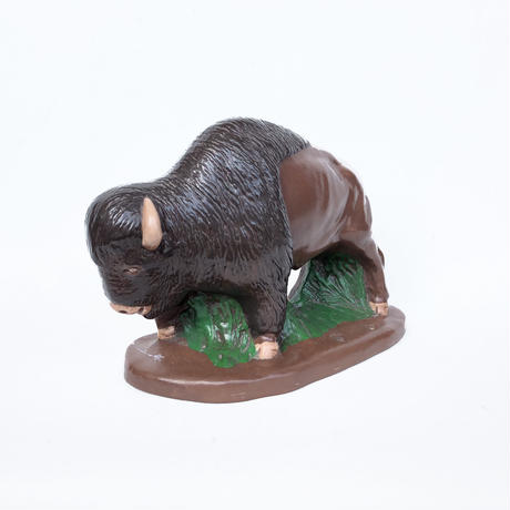 Ceramic Buffalo Sculpture