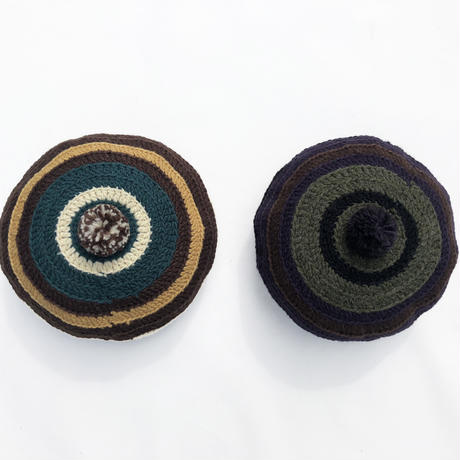 Stripe Tam O'Shanter Hat