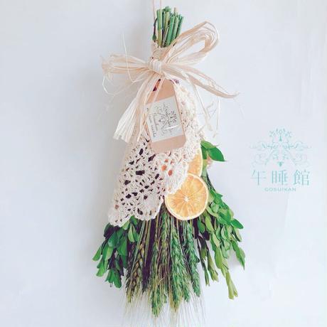 プリザーブド 小麦のスワッグ 16-50a