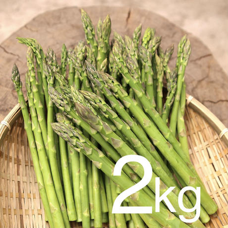 農家直送☆あま〜い朝採れアスパラガス約2kg L〜2Lサイズ