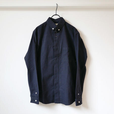 nisica|ニシカ |ボタンダウンネルシャツ |NIS-836-SH|ネイビー